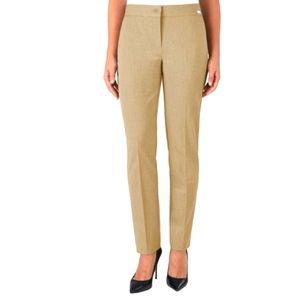 NWT Badgley Mischka Tan Dress Pants Size 14